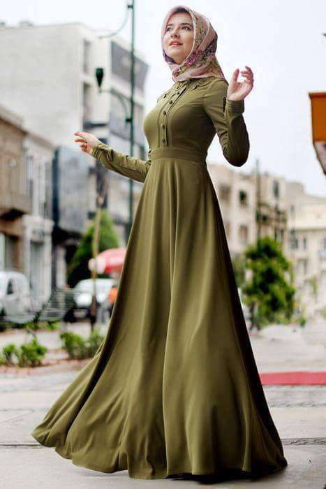 صورة صور فساتين للمحجبات , احلى مجموعة صور لفساتين محجبات في غاية الروعة