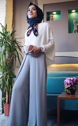 بالصور ملابس محجبات 2019 , كولكشن علي احدث موضه لملابس المحجبات 5799 8