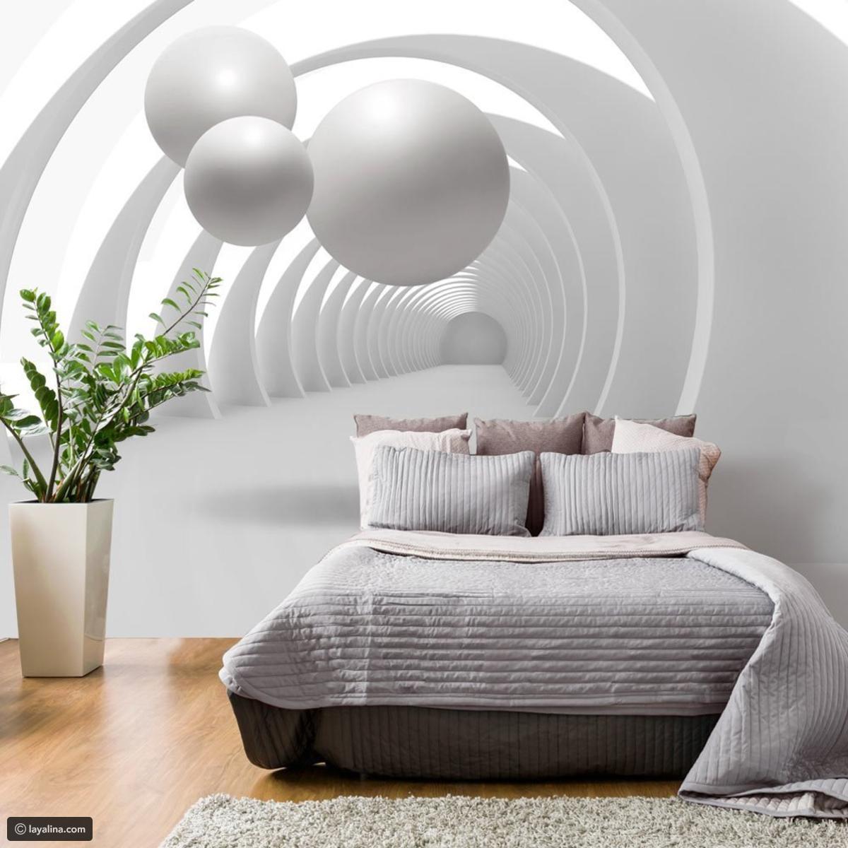 صورة ورق جدران لغرف النوم , تصميمات جديدة لورق الحائط