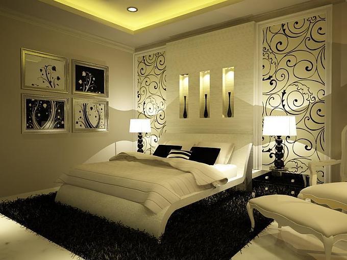 صورة اجمل ديكورات غرف النوم , اشيك الديكورات الحديثه