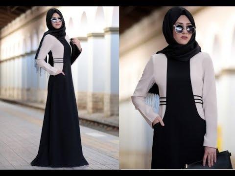 b10e6aa92 فساتين محجبات 2019 , اجمل كولكشن لفساتين المحجبات لعام 2019 - كيوت