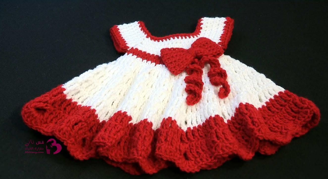 بالصور فساتين اطفال كروشيه , اجمل صور لفساتين الاطفال من الكروشية 5943 9