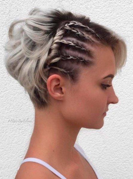 صورة تسريحات شعر قصير , اجمل تسريحات الشعر القصير