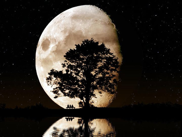 صورة اجمل صور للقمر , احلي صور للقمر وهو بدر