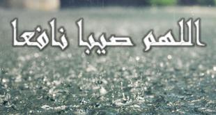 دعاء المطر , الدعاء الذى يقال عند المطر