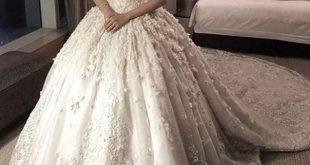 فساتين زفاف فخمه , افخم واجدد فساتين الزفاف