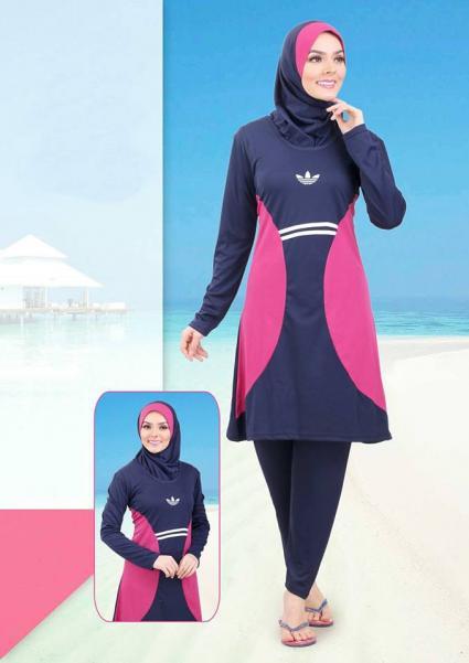 صورة مايوه اسلامي , زى اسلامى مناسب للبحر