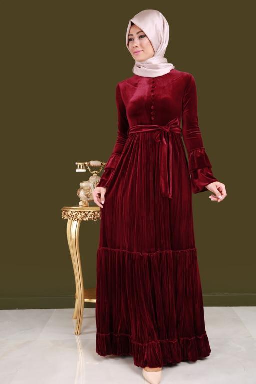 صورة موديلات فساتين مخمل , صور لارقى وازهى انواع الفساتين