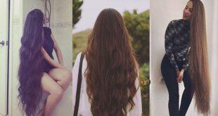 صور خلطات لتطويل الشعر , وصفه الجمال لشعر صحي طويل