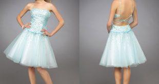 صور فساتين قصيرة منفوشة , اجمل الفساتين المزكرشة القصيرة