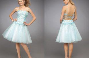 صورة فساتين قصيرة منفوشة , اجمل الفساتين المزكرشة القصيرة