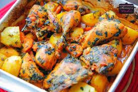 صور طريقة عمل صينية دجاج بالفرن , اكلة البيت المصري