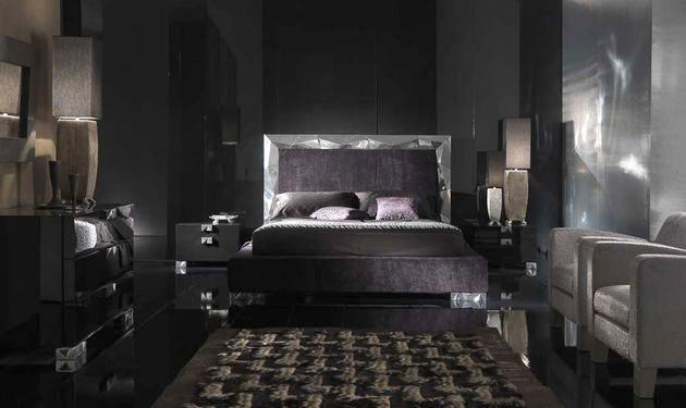 بالصور غرف نوم باللون الاسود والفضي , اللون المفضل في غرف النوم 11416 2