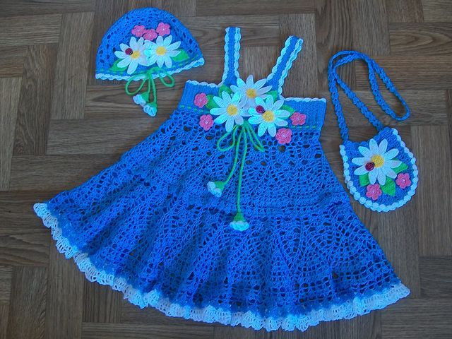 بالصور فستان كروشية اطفال , فن الكروشية يعود من جديد 11581 3