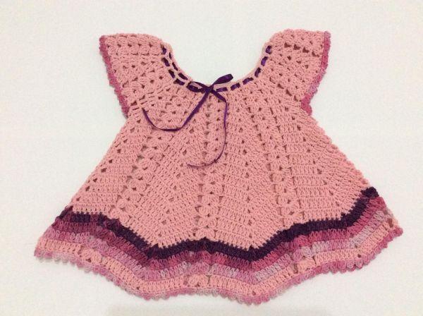بالصور فستان كروشية اطفال , فن الكروشية يعود من جديد 11581 6