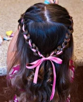 بالصور تسريحات شعر للبنات الاطفال , شياكة طفلتك امانة 11643 1