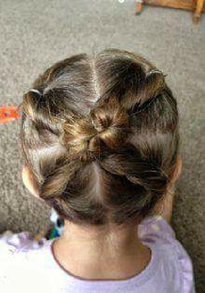 للبنات الصغار تسريحات شعر قصير للاطفال بسيطة