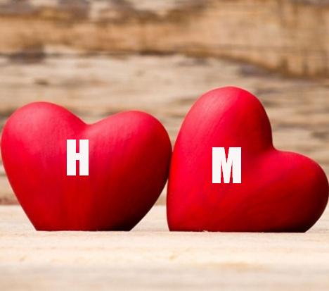 اجمل حرف M مع H حرفي مع حبيبي احلى مزيج كيوت