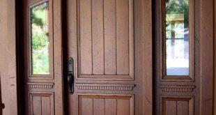 صور تصميمات ابواب خشبية , اهم التصميمات للخشب