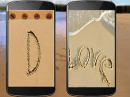 صورة كتابة اسمك على الرمل , الرملة والتكنولوجية مع اسمك
