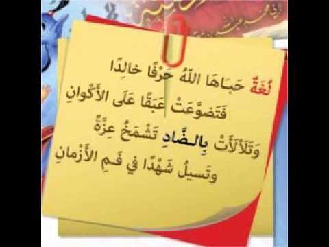 صورة شعر عن اليوم العالمي للغة العربية , مدح رائع للغه العربية