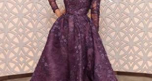 صورة اجمل فساتين سهرات , اشيك فستان سهرة