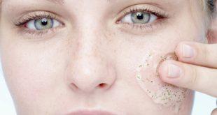 صورة تقشير البشرة الحساسة , تفتيح وتقشير الخلايا
