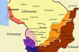 صورة اين تقع ليتوانيا على الخريطه , الموقع الجغرافي لليتوانيا