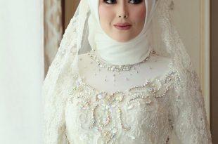 صورة صور عرايس محجبات , عروسة محجبة جميلة اوى