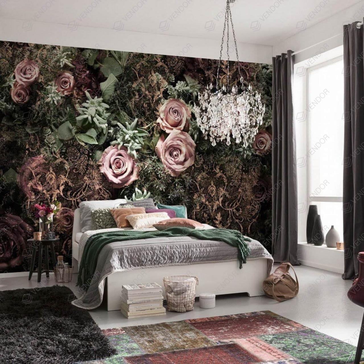 صورة ورق جدران غرف نوم , جملي غرفة نومك باجمد ورق حائط 🤫 6392 2