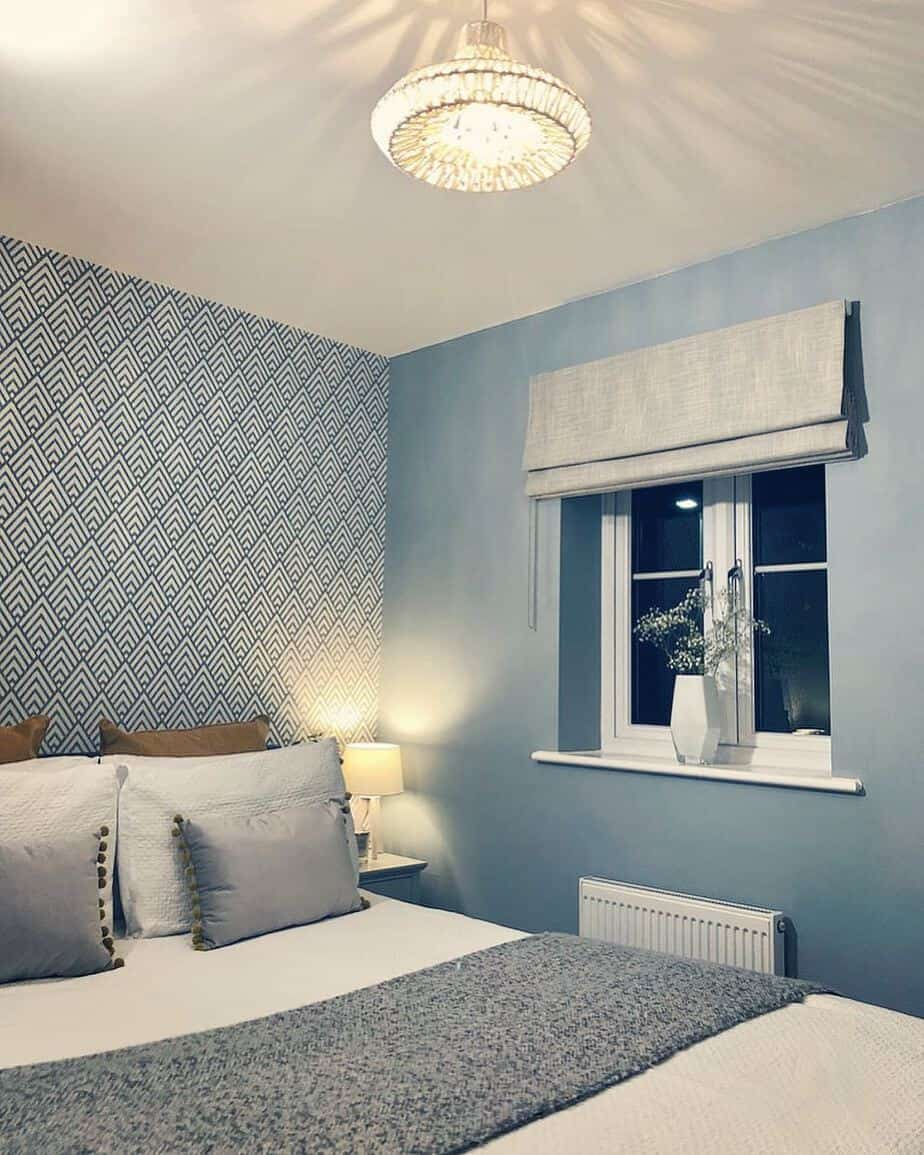 صورة ورق جدران غرف نوم , جملي غرفة نومك باجمد ورق حائط 🤫 6392 3