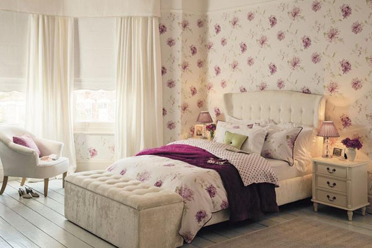 صورة ورق جدران غرف نوم , جملي غرفة نومك باجمد ورق حائط 🤫 6392 6