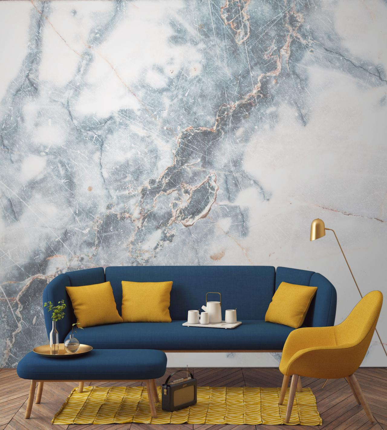 صورة ورق جدران غرف نوم , جملي غرفة نومك باجمد ورق حائط 🤫 6392 7