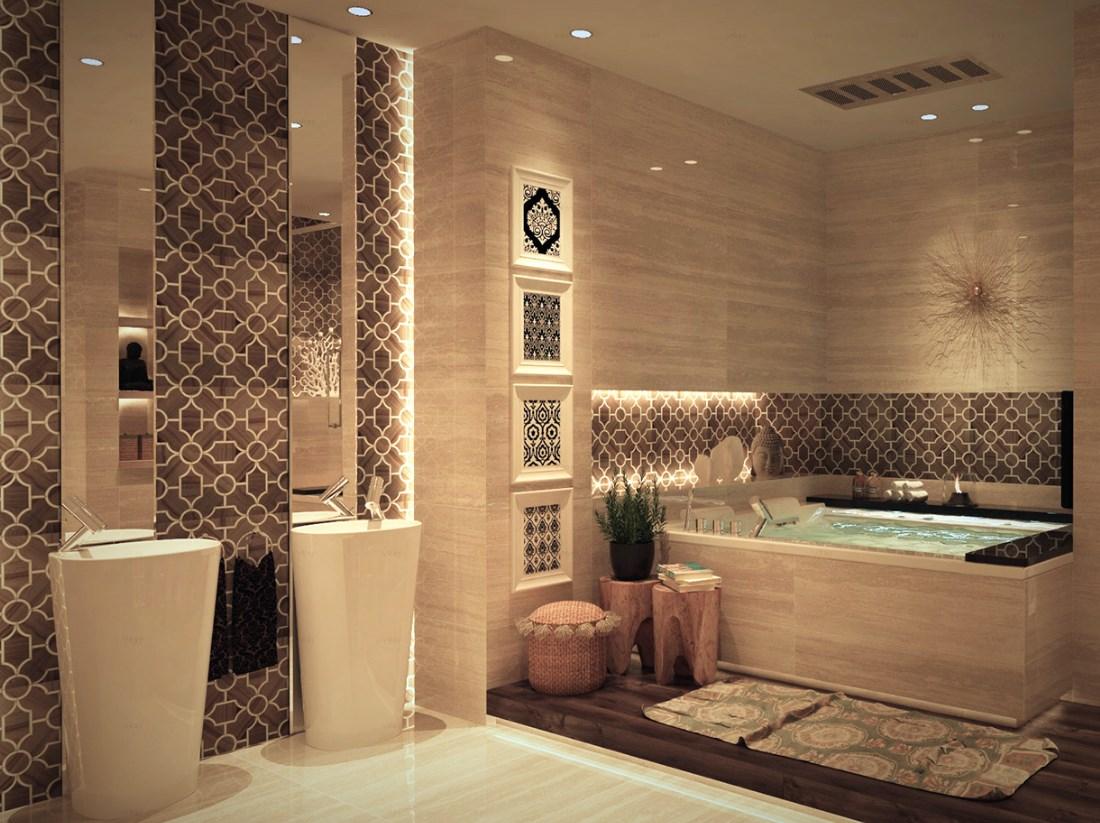 صورة ديكور حمامات منازل ,حمامات منزل شيك وروعة 3362 2