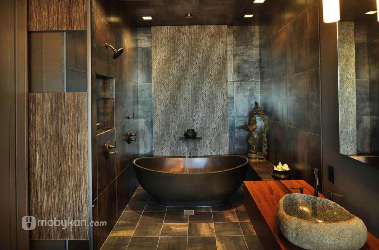 صورة ديكور حمامات منازل ,حمامات منزل شيك وروعة 3362 6