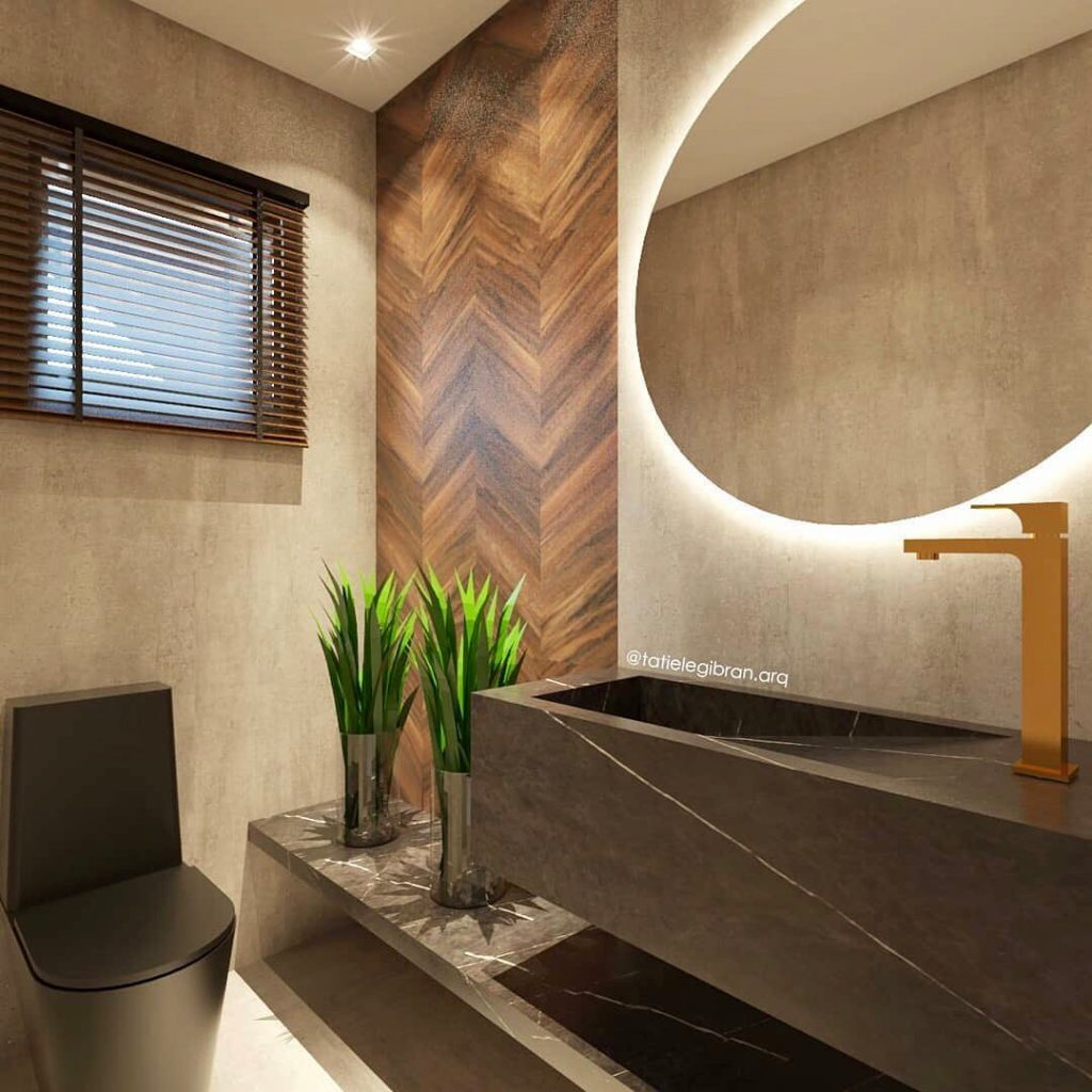 صورة ديكور حمامات منازل ,حمامات منزل شيك وروعة 3362 8