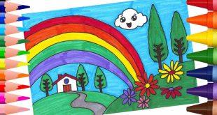 صورة رسم منظر طبيعي سهل للاطفال , رسومات سهلة يمكن تعليمها للاطفال