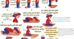 صورة تعليم الصلاة الصحيحة, كيفيه أداء الصلاه الصحيحه