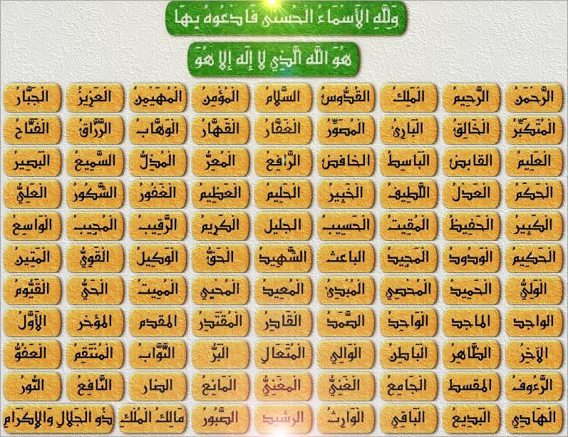 صورة كم عدد اسماء الله الحسنى 10971